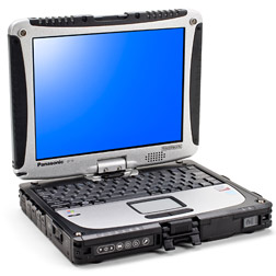 Toughbook in the mud. Photo from Panasonic.com.au.